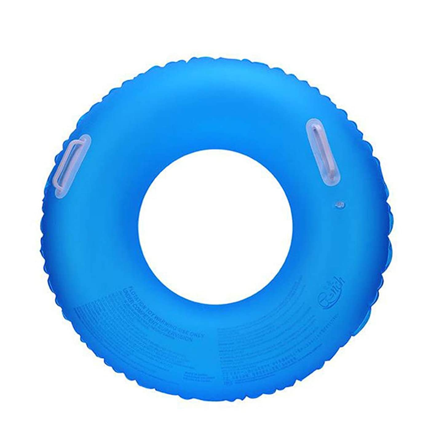 Qnlly Fluorescent Swimming Ring Thickening Men and Women Inflatable Lifebuoy