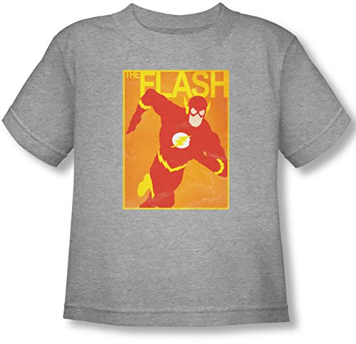 Justice League, The - Kleinkind Einfache Flash-Poster T-Shirt, 4T, Athletic Heather