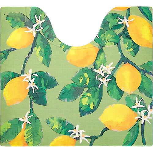 スキマにピタッ 拭ける 撥水 抗菌 トイレマット 縦55×横60cm レモングリーン
