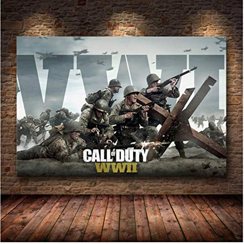 WDQFANGYI Classic game poster Canvas painting shooting game HD poster Wall Art Poster And Picture For Bedroom Home Decor mural 50X70CM (FLL4896)