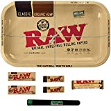 RAW Rolling Tray Combo Includes Tray, 1 1/4 Classic Rolling...