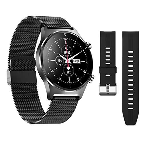 LJMG Reloj inteligente de tacto completo E13 deportivo Smartwatch para iOS Android para hombres y mujeres GPS soporte podómetro pantalla redonda Bluetooth Smart Watch,P