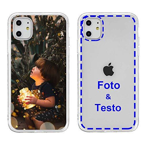 MXCUSTOM Cover Personalizzata per Apple iPhone 11, Custodia Personalizzate con Foto Immagine Testo Design Crea Le tue [Paraurti Morbido Trasparente+Piastra Posteriore Rigida] (CHT-CR-P1)