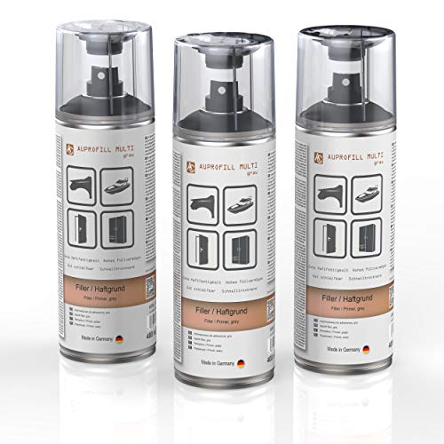 AUPROTEC Haftgrund Füller AUPROFILL Multi Filler Grundierung für Autolack Primer Spray grau 3X 400ml