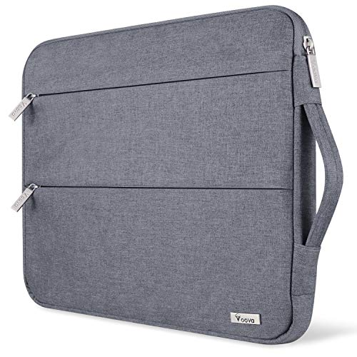 Voova Funda Portátil 11 11.6 12 Pulgadas con Asa, Maletín Ordenador Compatible con MacBook Air 11, Mac 12, Surface Pro X/7/6/5, iPad Pro 12.9 2020, DELL Acer HP Samsung Chromebook/Tablet, Gris