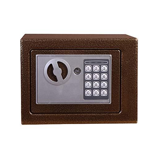 Zhengowen Caja Fuerte De Europa y América Pequeño Especiales en el electrónico Wall contraseña Niño Dinero Seguro Seguridad Caja de Seguridad (Color : Bronze, Size : One Size)