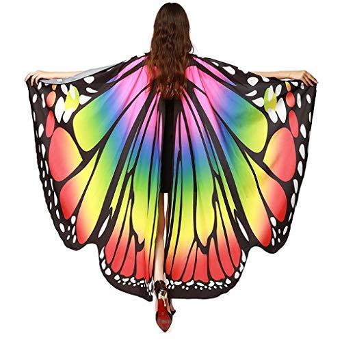 Momoxi Schmetterlingsflügel für Mädchen Feenflügel Kinder Fee Kostüm Prinzessin Verkleidung Flügel Set Halloween Geburtstag Party GeschenkMulticolour