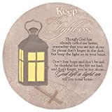 Dicksons Keep The Light On Lantern 10 x 10 Inch Resin Stone Indoor Outdoor Garden Stepping Stone