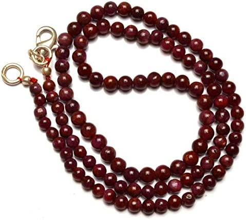 GemAbyss Beads Gemstone 1 Strand Natural 3.5 Cheap SALE Start 4.5M Sale SALE% OFF to Ruby Smooth