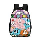 Mochila unisex para niños The Amazing World of Gumball, mochila estampada con correas anchas y cómodas Gris gris talla única