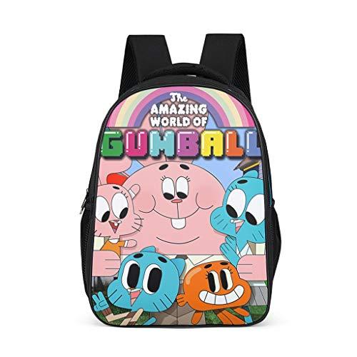 Mochila unisex para niños The Amazing World of Gumball con estampado  con correas anchas