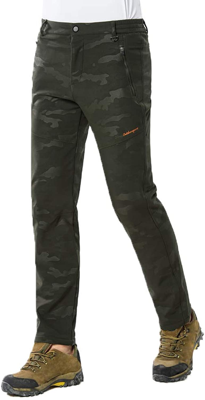 - Mens Camo Fleece Trousers Outdoor Padded Soft Soft Soft Shell Pants Warm Windproof Hiking 7ce105