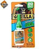 Gorilla Super Glue Gel, 20 Gram, Clear - 3 Pack