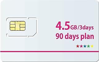 Docomo 日本国内専用【3日で4.5GB使用可能】90日無制限プランSIMカード(3day/4.5GB)【最大高速容量135GB】※面倒な契約不要 docomo MVNO回線データ専用 使い切りプリペイドSIMカード SIMリリースピン付(...