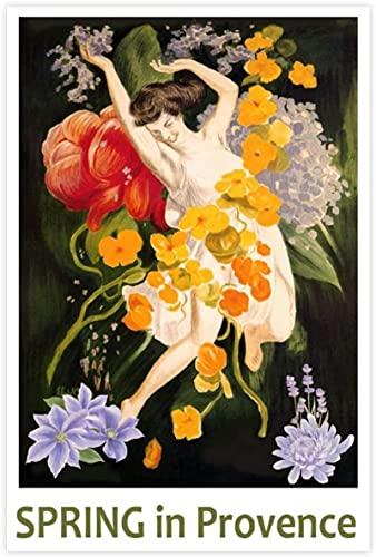 ZHJJD Posters para Pared Primavera en Provenza Lienzo póster Pared Arte Decoracion impresión Cuadros Pinturas decoración50x70cm x1 Sin Marco