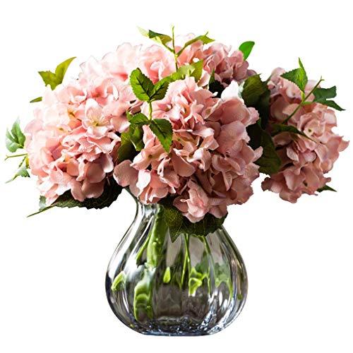 LHY- Gefälschte Blumen Simulation Hydrangea Wohnzimmer TV Schrank Couchtisch Veranda Dekoration Dekorative gefälschte Blumen-Blumenstrauß Mode (Color : Pink)