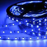 Signcomplex Tira de LED flexible 3528 SMD Cinta de LED con 3M cinta autoadhesiva 5m un carrete 12V DC (Azul)