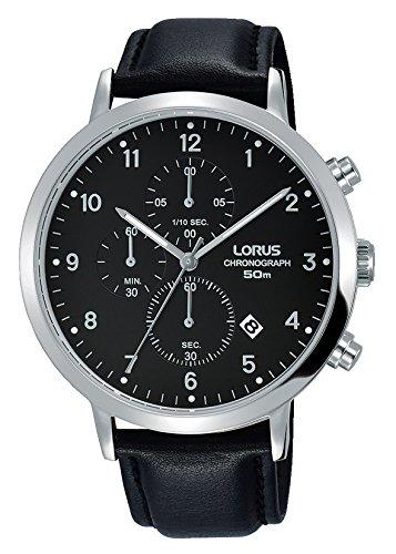 Lorus Herren Analog Quarz Uhr mit Leder Armband RM315EX9