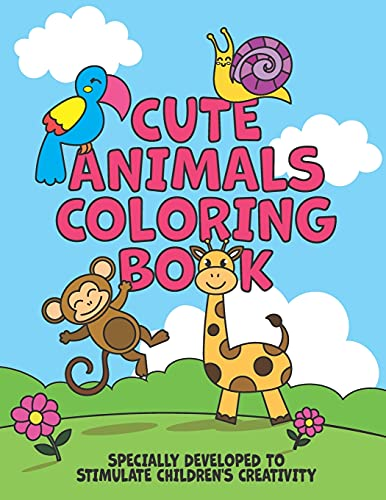 Cute Animals Coloring Book (Coloring Books)