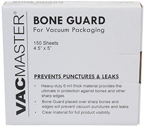 VacMaster Vacuum Packaging Bone Guard Sheets, 4.5-Inch by 5-Inch, 150 Sheets