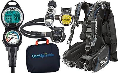 Cressi Ace Cold/Warm Water Scuba Diving Gear Package Assembled GUpG Reg Bag, Blue LG