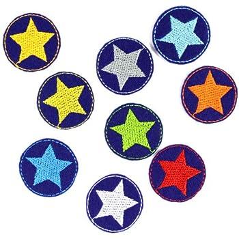 3 kleine Sterne im Set Aufbügler Aufnäher Bügelbild Patch rosa