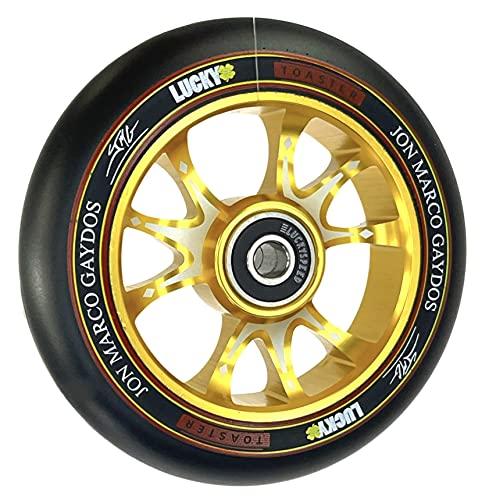 Lucky Tostadora Jon Marco V3 Signature Stunt-Scooter Wheel Niños Roller Reemplazo Rodillo 110 mm Oro