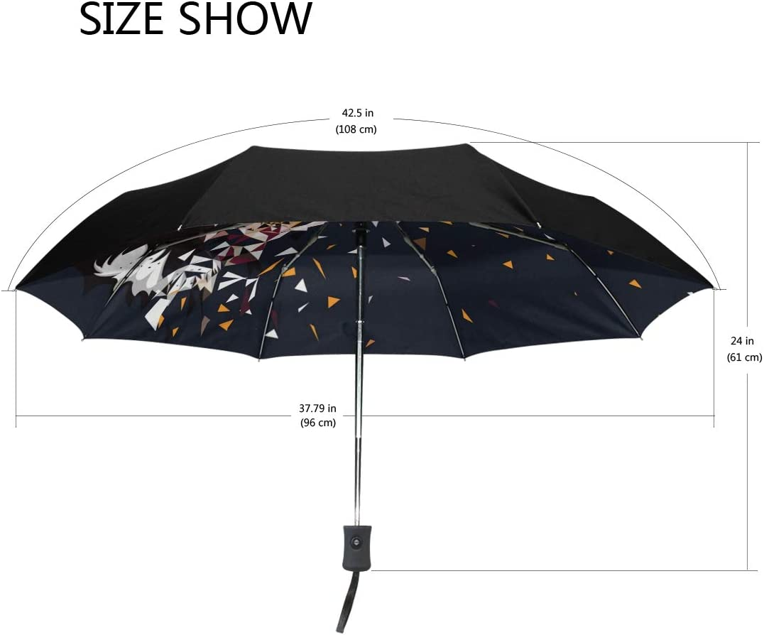 Mr.XZY Tiger Windproof Automatic Folding Travel Umbrella For Kids Creative Pattern Compact Auto Open and Close Umbrella with UV Protection 2010046