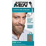 JUST FOR MEN Mustache & Beard Brush-In Color Gel, Blond M-10/15 1 Each (Pack of 2)