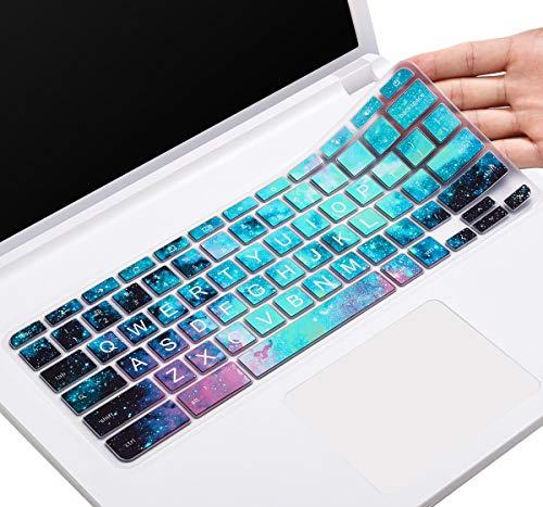 CaseBuy Keyboard Cover for Lenovo 100E Chromebook, Chromebook N20 N21 N22 N23 300E 500E 11.6, Chromebook C330 11.6, Flex 11 Chromebook, Lenovo Chromebook N42 N42-20 14 inch Skin(Upper CASE, Galaxy)