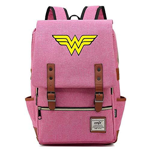 """Mochila Wonder Woman, Mochila Oxford para Adolescentes al Aire Libre, Mochila universitaria, se Adapta a una Tableta portátil de 15\""""\"""", Resistente al Agua de 14 Pulgadas. Color-10."""