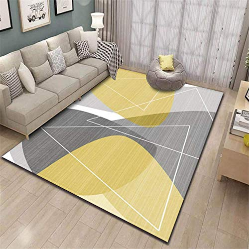 XTUK Home Decoration Carpet Modern Style Rugs Non Slip Carpet Home Accessories In Geometric Pattern In Soft Touch Bed Rugs Parlor Decor Area Rug Large Living Room Rug 120 * 160cm