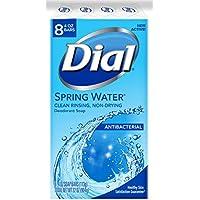 8-Pack Dial Antibacterial Deodorant Soap, Spring Water, 4 Ounce