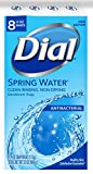 Dial Antibacterial Deodorant Soap, Spring Water, 4 Ounce, 8 Bars