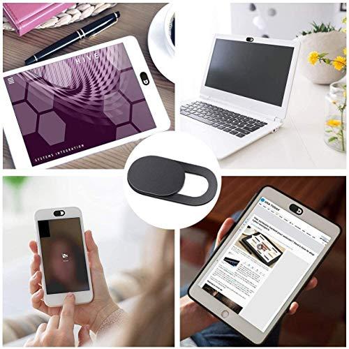 ivoler [8er Set Webcam Abdeckung, Slider Camera Cover Ultra dünne Webcam Cover Privacy-Schutz Kamera Abdeckung für MacBook, iPad, iPhone, Laptop, PC, Smartphones, Tablets, etc. - (Schwarz)