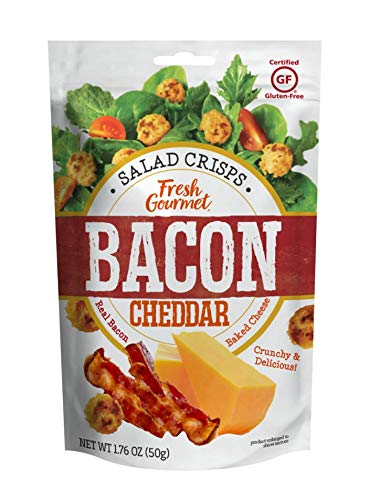 Fresh Gourmet Cheese Crisps, Bacon Cheddar, Great for Snacking and Salad Topper, 1.76 Ounce (Pack of 12)
