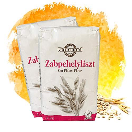 Naturmind Hafermehl 2x1000g   Oat Flour   VEGAN   feine Mehlmischung   100% Natürlich   Ballaststoffreich   Rohkostqualität   Superfood   Paleo   Perfekt für Süße und Salzige Rezepte