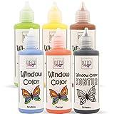German Deco Art Window Color Set - Abziehbare Fenstermalfarbe