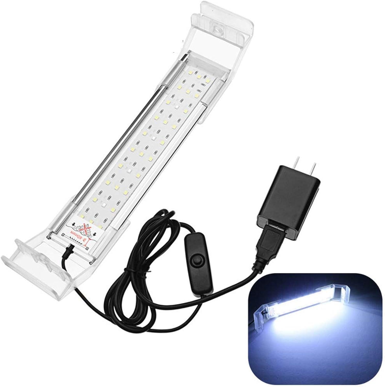 ZHENWOFC 21cm 5W USB LED Aquarium Light Panel blau weiße Lampe AC220V Innenlicht B07N5J13DL  | Genial