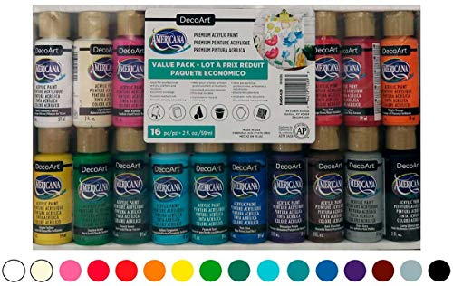 Crafters Acryl Value Pack 16/pkg-assorted Farben