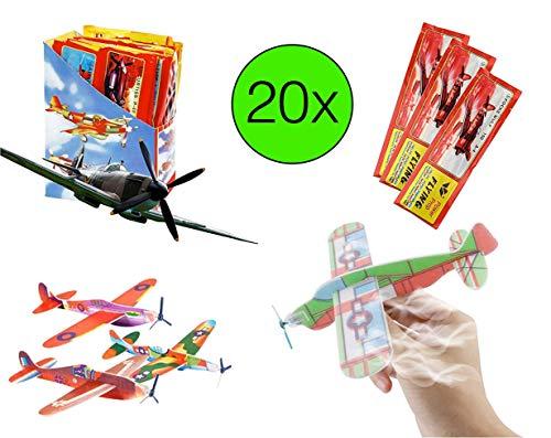 TK Gruppe Timo Klingler Aviones de Espuma de poliestireno Aviones de ala Delta Aviones de Espuma de poliestireno Cumpleaños de los niños lanzando Souvenirs de ala Delta (20x Piezas)