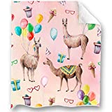Loong Design Alpaca Throw Blanket Soft Fluffy Premium Sherpa Fleece Blanket 50'' x 60'' Fit for Sofa Chair Bed Office Travelling Camping Gift