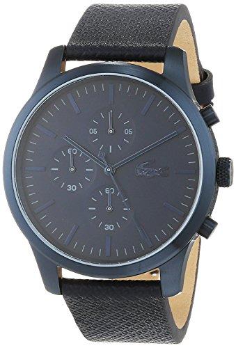 Lacoste Unisex Chronograph Quarz Uhr mit Leder Armband 2010948