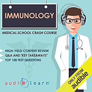 Immunology - Medical School Crash Course audiobook cover art