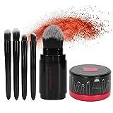 Brochas en polvo, juego de brochas de maquillaje elegantes y convenientes, 6 piezas suaves/juego para niñas, herramientas de maquillaje para mujeres