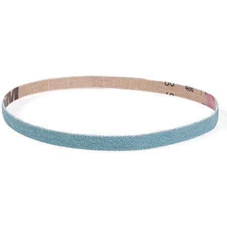Pack of 10 21 Length Brown 40 Grit 3 Width VSM 13574 Abrasive Belt Cloth Backing Aluminum Oxide Coarse Grade