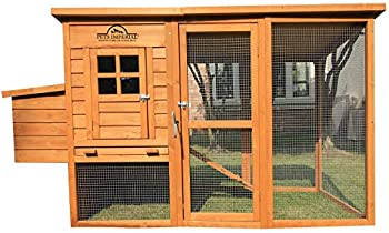 PETS IMPERIAL Monmouth Large Chicken Coop 6ft 7  in Length with Roof That Opens Suitable for Up to 4 Birds