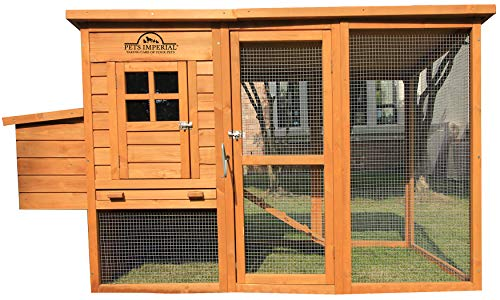 """Pets Imperial Monmouth Large Chicken Coop 6ft 7"""" in Length with Roof That Opens Suitable for Up to 4 Birds"""