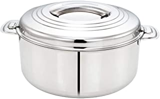 Tabakh 2.5-Liter Stainless Steel Casserole Hot-Pot Food Warmer & Serving Bowl, 2500ml