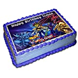 Yugioh Personalized Edible Cake Topper 1/4 8.5 x 11.5 Inches Birthday Cake Topper
